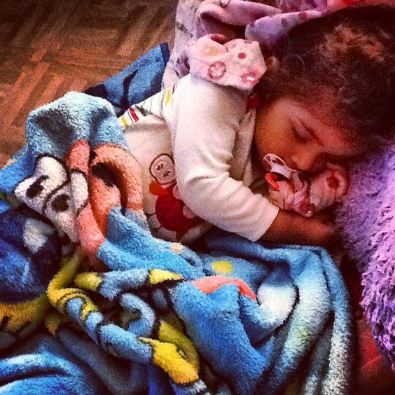 My baby girl sleeping