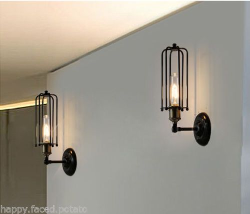 Rustic Industrial Wall Sconces : Details about Rustic Industrial Wall Light Sconce Vintage Edison Pencil Tube Filament Bulb Inc ...