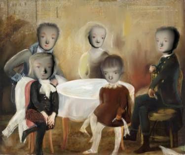 "Saatchi Art Artist Catherine Denvir; Painting, ""The Incomplete Group"" #art"