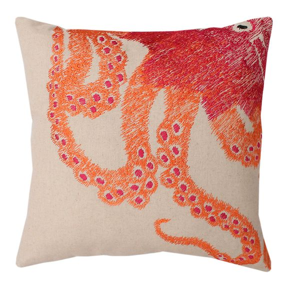 Ombre Octopus Square Throw Pillow (16 x 16) | Overstock.com Shopping - The Best Deals on Throw Pillows