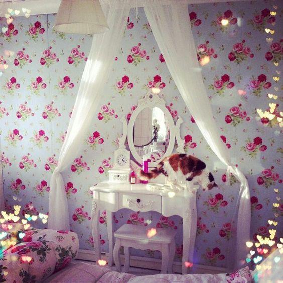 wallpaper vanity