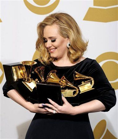 Sweeeeppp!!! 6 Grammy's & an amazing performance with a standing ovation at the end... Adele owned the Grammy's this year!