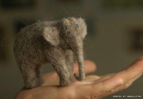 Wool Felt Elephant