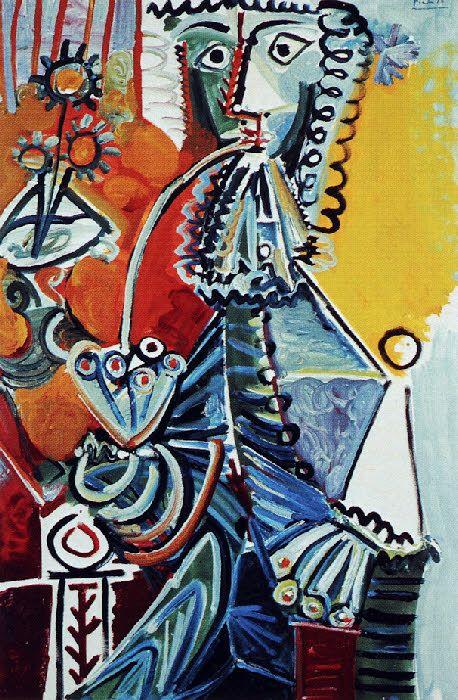 Picasso -Le getilhomme à la pipe