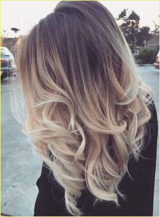 Braun blonde haare mittellang