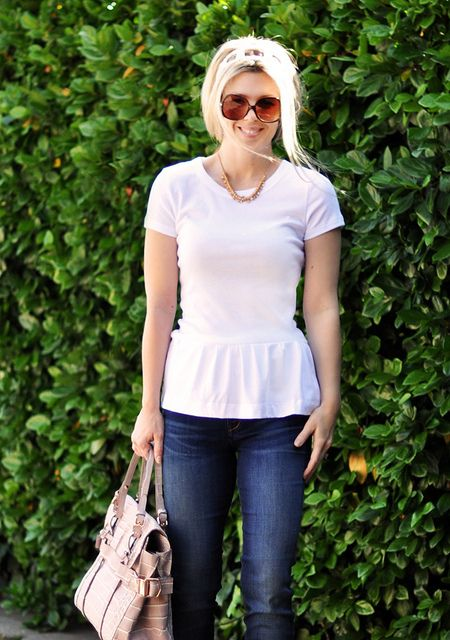 Peplum t- shirt DIY
