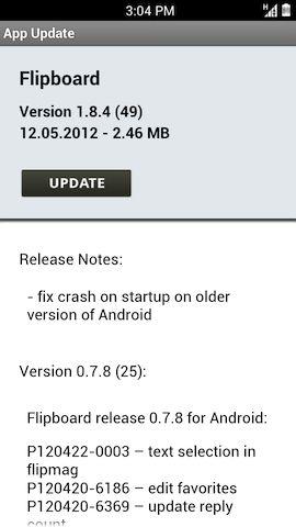 Flipboard vazado do Galaxy S III para outros Androids recebe update