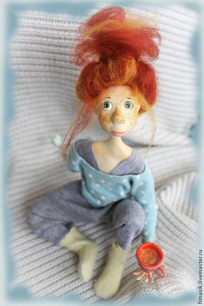 Человечки ручной работы. Ярмарка Мастеров - ручная работа. Купить Сашель. Handmade. Рыжий, авторская кукла, интерьерная игрушка