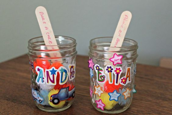 DIY Pom Pom Incentive Jars. (Ready to take chores online? Try FamZoo.com)