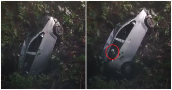 Ghost Hand Appears in Car Being Pulled Out of Gombak Ravine & Netizens Are Freaking Out - WORLD OF BUZZ