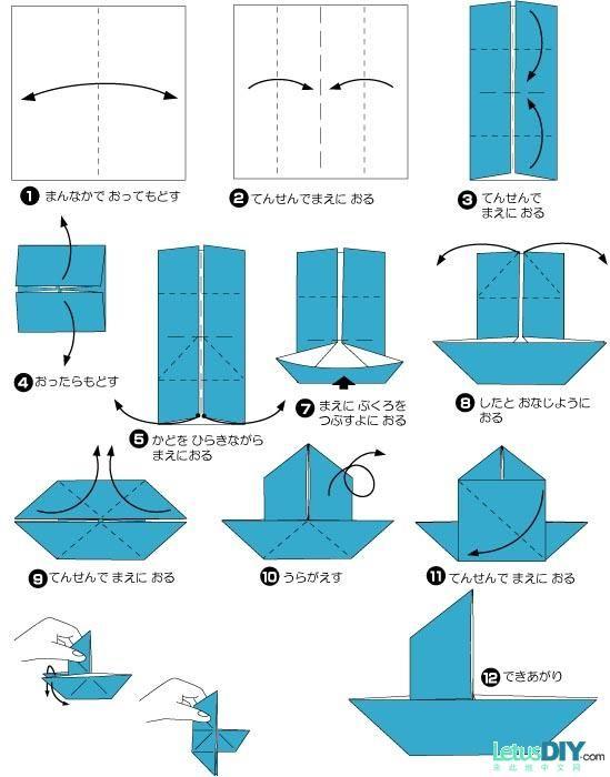 diy paper folding paper sailing boat letusdiy org diy everything here favorite places. Black Bedroom Furniture Sets. Home Design Ideas