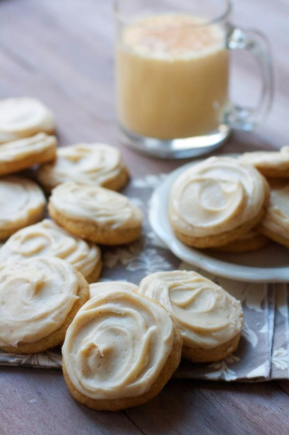 Soft Frosted Egg Nog Cookies | Recipe | Egg Nog, Eggs and Cookies