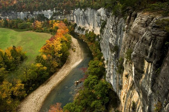 Autumn on the Buffalo National River from Roark Bluff