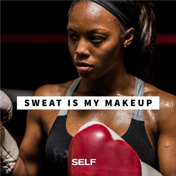Sweaty is my best look.