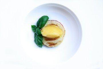 Pfirsich, Mangosorbet