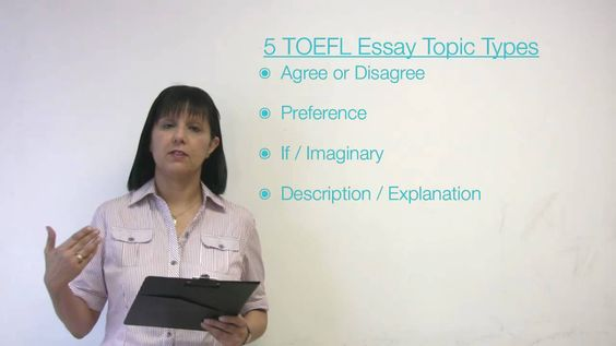 types of essay in toefl Looking for toefl writing topics we explain the types of integrated and independent toefl essay topics and how to attack them, plus 13 sample prompts.