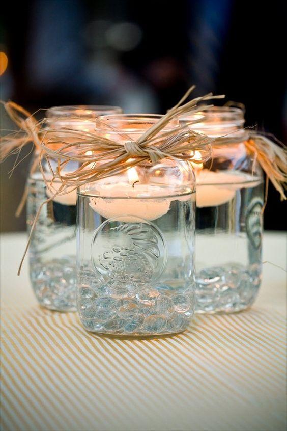 pretty table decorations wedding