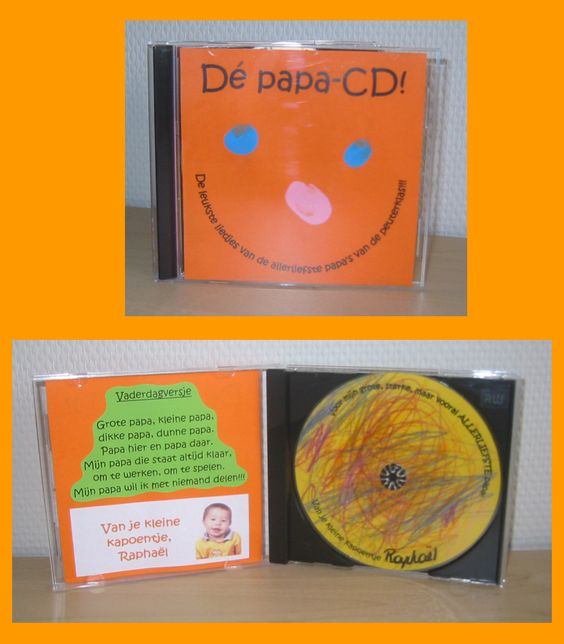 Op de CD staan de lievelingsliedjes van papa.