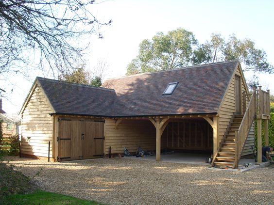 Bespoke 39 L 39 Shaped Oak Garage Home Pinterest Bespoke