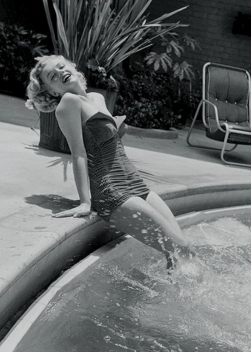 """normajeaned: """" """" Marilyn Monroe photographed by Phil Burchman, 1951. """" """""""