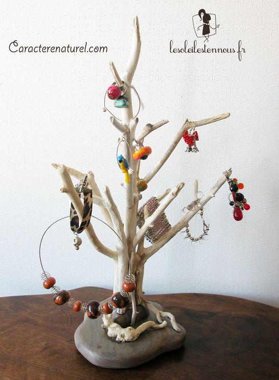 arbre pr sentoir bijoux en bois flott benoit galloudec. Black Bedroom Furniture Sets. Home Design Ideas