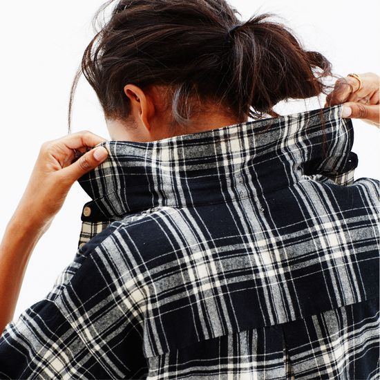 Madewell flannel trapeze shirt in overcast plaid (+ winning a trip for two to Paris from Madewell). more info here: http://mwell.co/giftwellsweeps #giftwell #sweeps