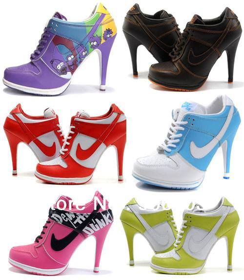 high heeled Nike sneakers... Idk if I like them yet lol