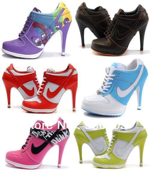 high heeled Nike sneakers... Idk if I like them yet lol