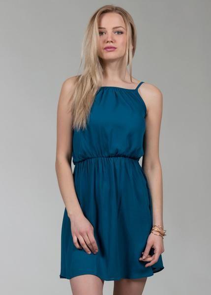 Vestido Halter Liso - Shasa