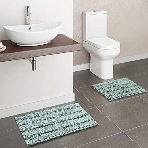 Bathroom Rug Mat Set 2 Piece Green Bath Mats Set For Bathroom Sink Toilet Shower Ultra Thic Green Bath Mat Bath Mat Sets Bath Mat
