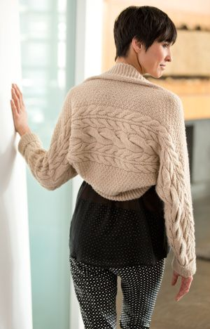 Shrug Knitting Patterns For Beginners : Cable, Free knitting and Lion brand on Pinterest