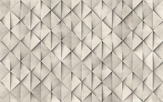 Papel de parede com motivos TRIASTONE Linha Materico by Wallpepper
