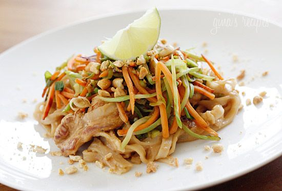 asian peanut noodles with chicken: