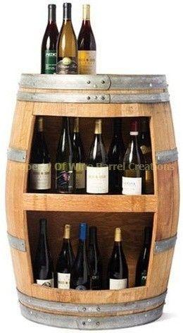 Wine barrel wine holder.