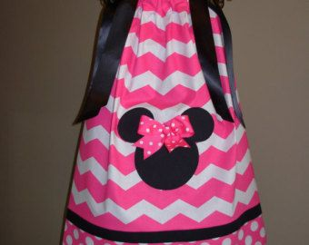 Minnie Mouse Pillowcase Dress Zebra and Pink Polka Dot by STLGIRL