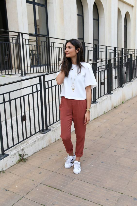 blog mode pantalon fluide rouille promod