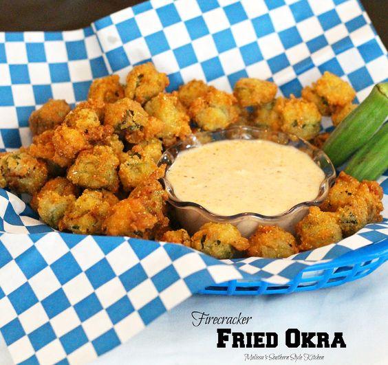 Firecracker Fried Okra | Recipe | Okra and Firecracker