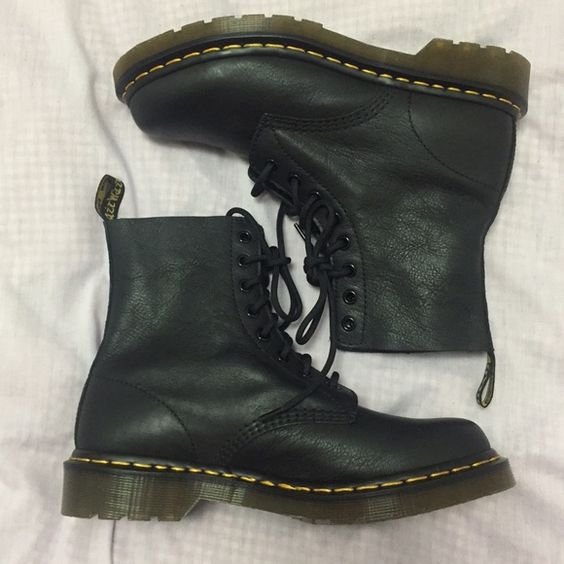 doc martens grunge and soft leather on