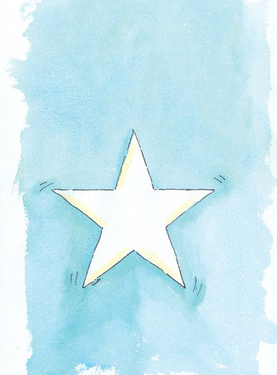 You're a star! Loose watercolour wash.