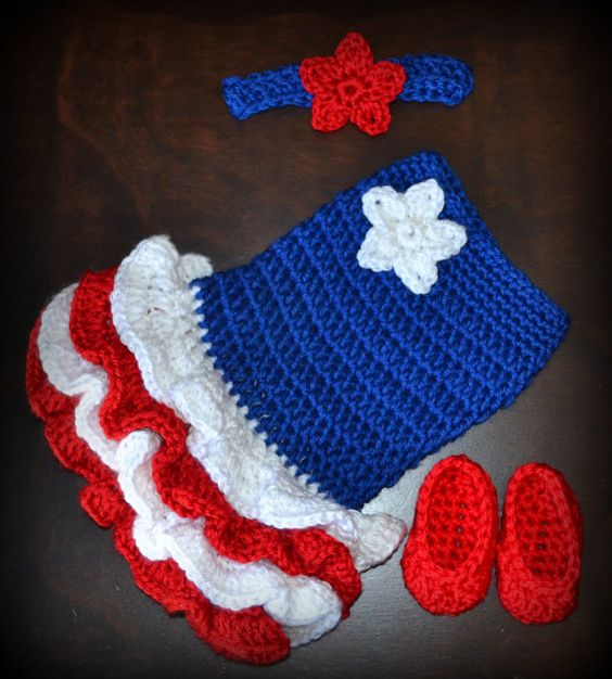 crochet baby 4th of july
