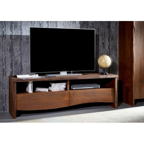 Live Edge Tv Stand For Tvs Up To 70 Massivmoebel24 Colour Grey