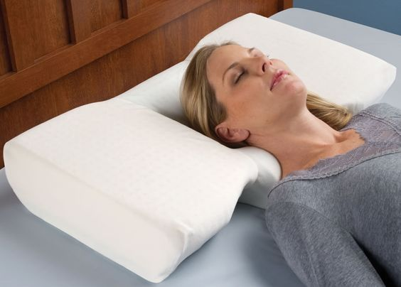 No more more neck pain with The Neck Pain Relieving Pillow!