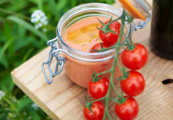 Soupe glacée de tomates