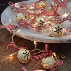 lights, bells, ribbon - sweet christmas decor