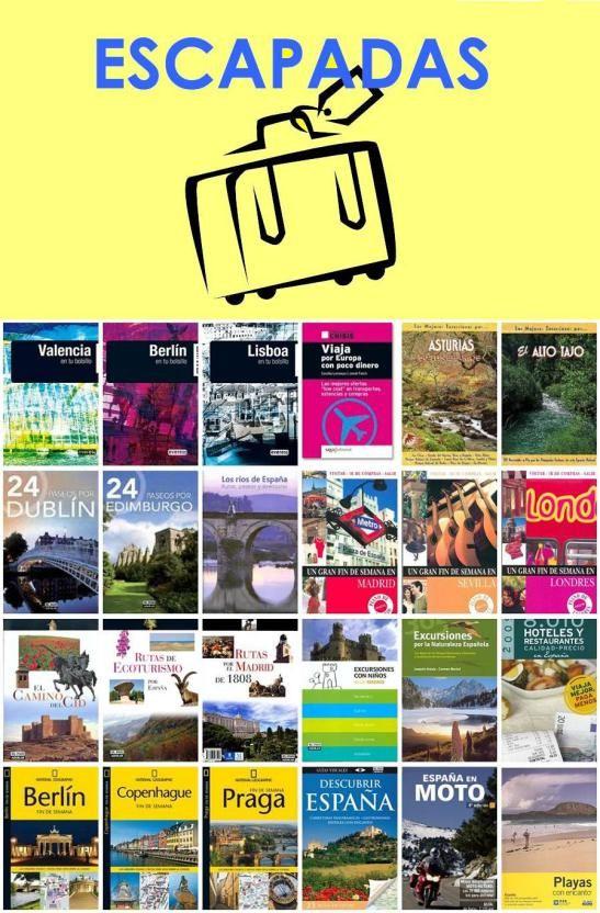 """Escapadas. Una """"mirilla"""" de la Biblioteca Municipal de Móstoles http://bibliotecademostoles.wordpress.com/"""