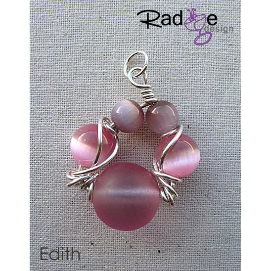 $35 Edith Pendant Sterling Silver with Glass Beads by radgedesign on Handmade Australia
