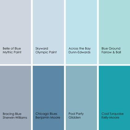 Blue paint picks for bathrooms clockwise from top left - Benjamin moore swimming pool paint 042 ...
