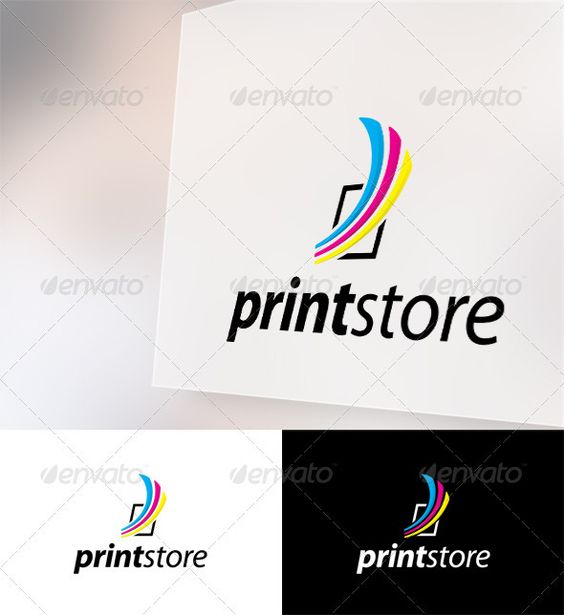 PrintStore  - Logo Design Template Vector #logotype Download it here: http://graphicriver.net/item/printstore-logo-template/2351683?s_rank=847?ref=nesto