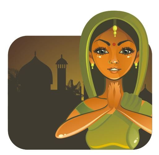 Line Art Corel Draw Tutorial : Drawing an indian girl in vector step by coreldraw