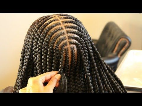 I Outdid Myself With This One Medium Layered Braids Youtube Braided Hairstyles Hair Styles Feed In Braid